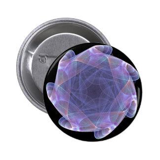 purple scalloped fractal pinback button