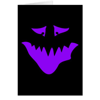 Purple Scary Face. Monster. Card