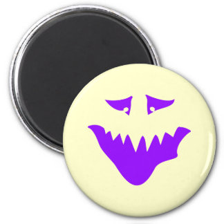 Purple Scary Face. Monster. Magnet