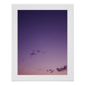 Purple Scattered Clouds at Twilight Poster