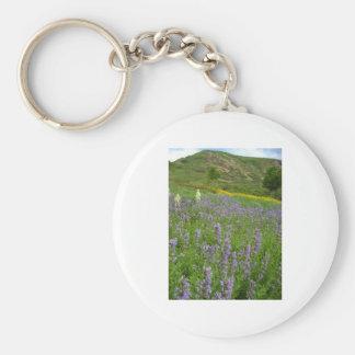 purple scenery keychain