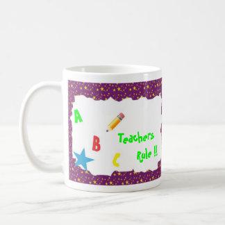 Purple School Chalkboard Teachers Rule Mug