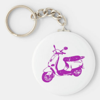 Purple Scooter Key Chain