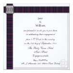 Purple Scottish Tartan Engagement Party Invitation