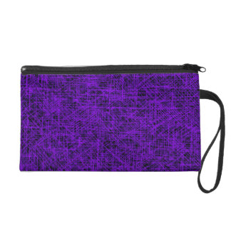 "Purple ""Scratch"" Wristlet"