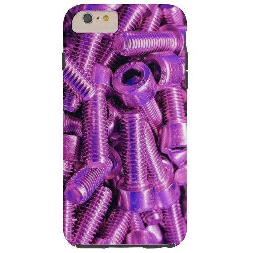 Purple Screws Bolts Steel Metal Glossy Shiny Photo Tough iPhone 6 Plus Case