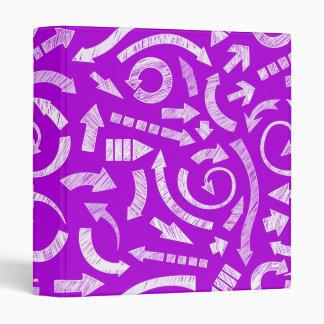 Purple Scribbled arrows Binder