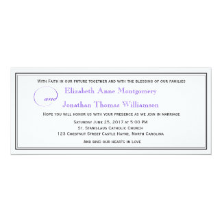 Purple Script Christian Wedding Invitation