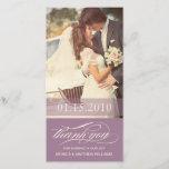"PURPLE SCRIPT THANKS   WEDDING THANK YOU CARD<br><div class=""desc""></div>"