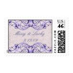 Purple Scroll Couple Stamp
