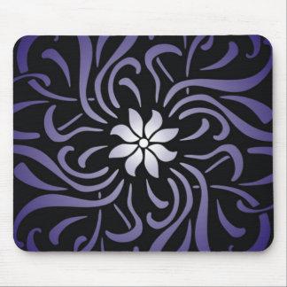 Purple Scroll Mouse Pad