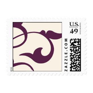Purple Scrolls Postage