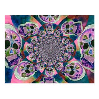Purple Scull Swirl Design Postcard