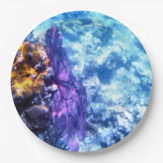 Purple Sea Fan 9 Inch Paper Plate