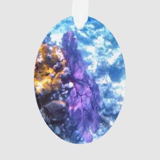 Purple Sea Fan Acrylic Ornament