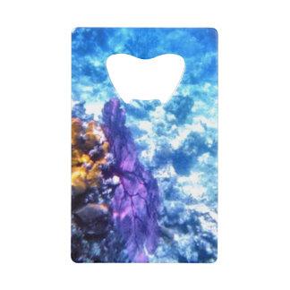 Purple Sea Fan Credit Card Bottle Opener