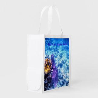 Purple Sea Fan Custom Grocery Bag