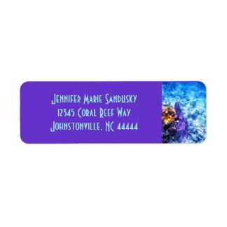 Purple Sea Fan Label