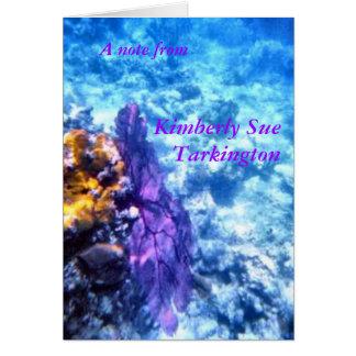 Purple Sea Fan Note Cards