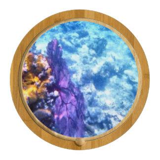 Purple Sea Fan Round Cheeseboard