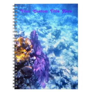Purple Sea Fan Spiral Notebook