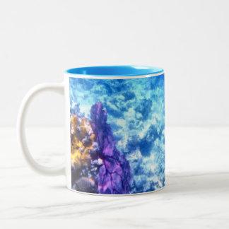Purple Sea Fan Two-Tone Coffee Mug