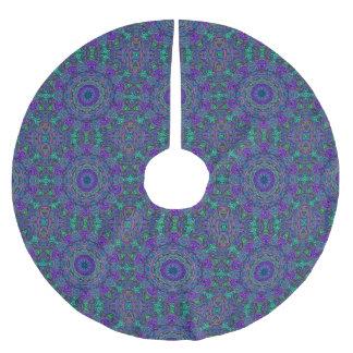 Purple Sea Green Kaleidoscope Brushed Polyester Tree Skirt