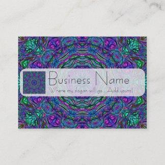 Purple Sea Green Kaleidoscope Business Card