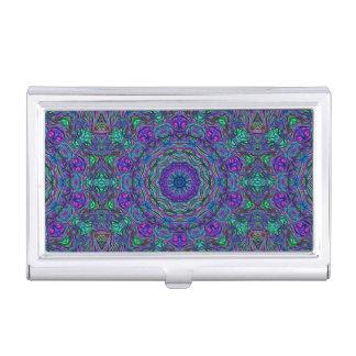 Purple Sea Green kaleidoscope Business Card Case