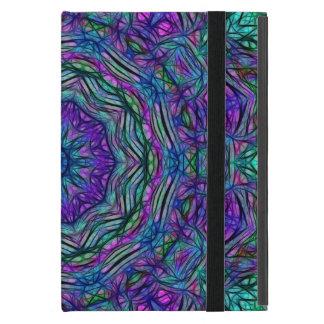 Purple Sea Green Kaleidoscope Case For iPad Mini