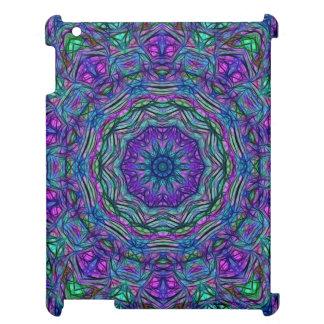 Purple Sea Green Kaleidoscope Case For The iPad