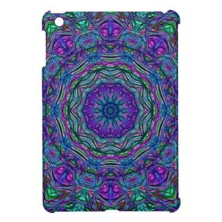 Purple Sea Green Kaleidoscope Case For The iPad Mini