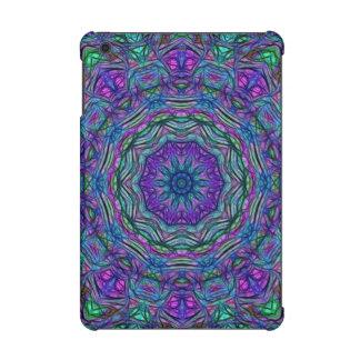 Purple Sea Green Kaleidoscope iPad Mini Case