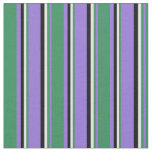 [ Thumbnail: Purple, Sea Green, Mint Cream, and Black Colored Fabric ]