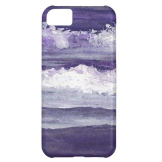 Purple Sea Ocean Beach Waves Dusk Sunset Sea iPhone 5C Case