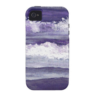 Purple Sea Ocean Beach Waves Dusk Sunset Sea iPhone 4 Covers