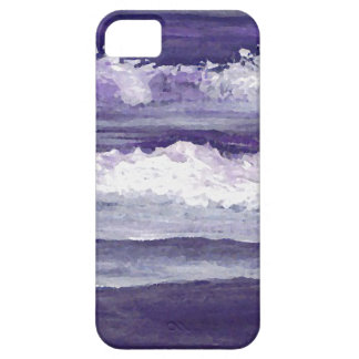 Purple Sea Ocean Beach Waves Dusk Sunset Sea iPhone 5 Case