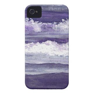Purple Sea Ocean Beach Waves Dusk Sunset Sea Case-Mate iPhone 4 Cases