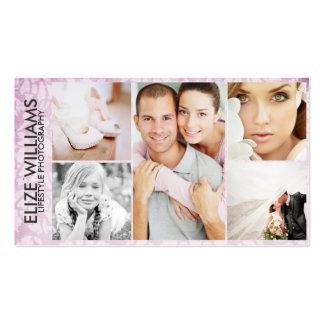 Purple Seaglass Custom Photo Business Cards