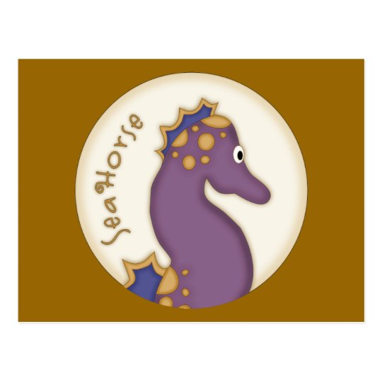 Purple Seahorse Gifts Postcard