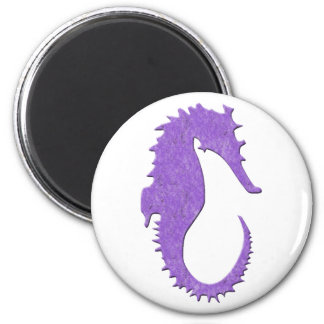Purple Seahorse Magnet