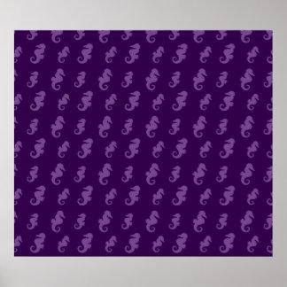 Purple seahorses posters
