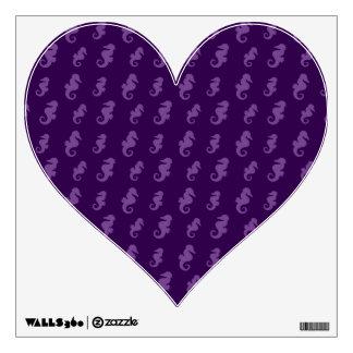 Purple seahorses wall sticker