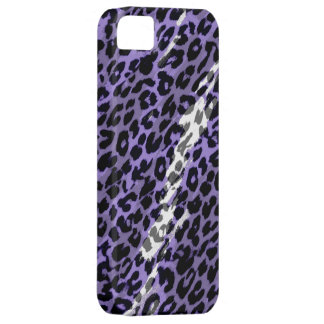 Purple seamles animal print texture of leopard iPhone SE/5/5s case