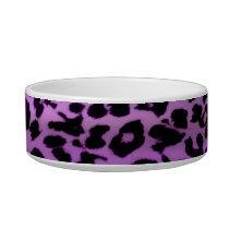 Purple seamless animal skin texture bowl