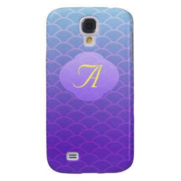 all_summer_products Purple Seamless Wave Pattern Samsung GalaxyS4 Case