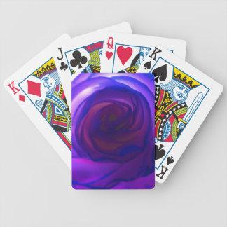 Purple Secret Rose Bicycle Playing Cards