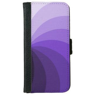 Purple Segments Design Wallet Phone Case For iPhone 6/6s