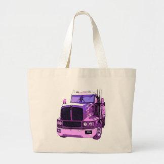 Purple Semi Truck Tote Bag