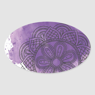 Purple sends it oval sticker